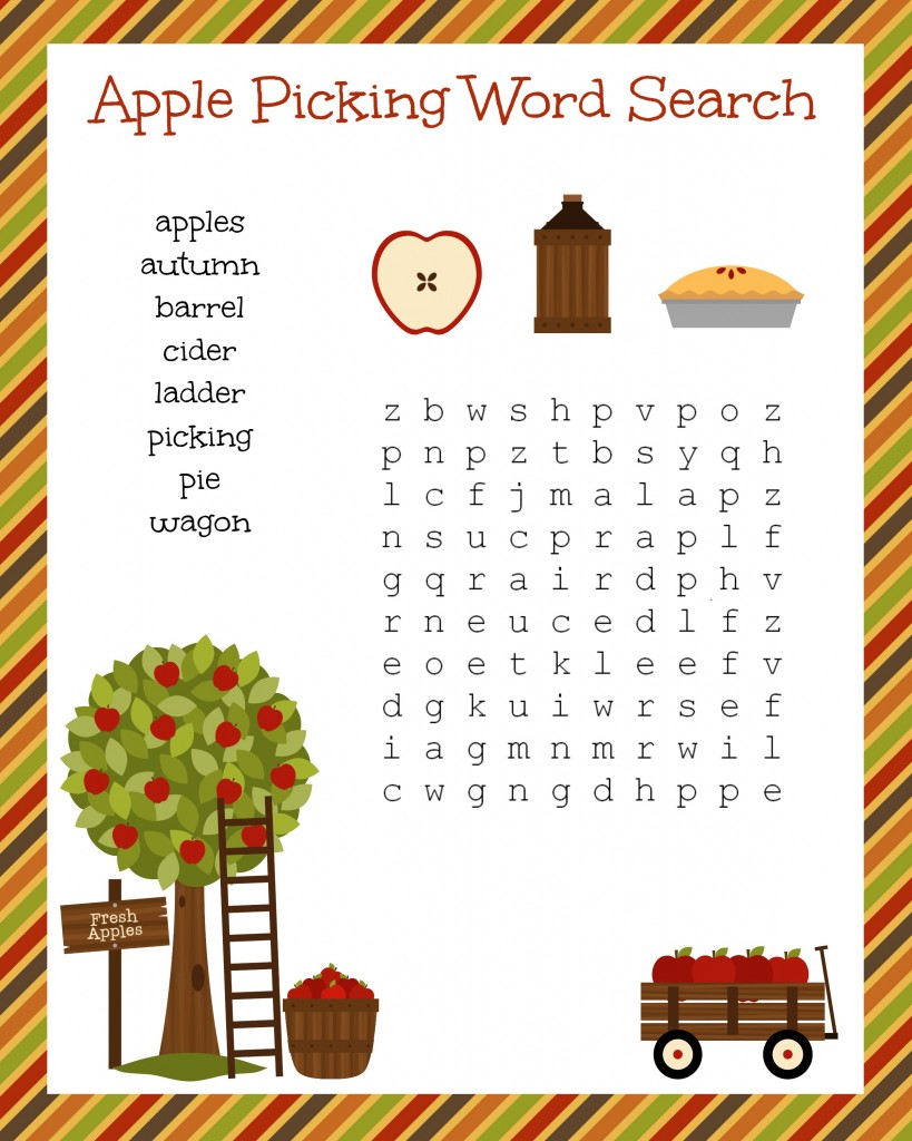 Free Printable Fall Word Searches