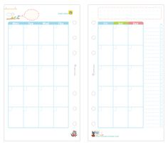 7 Images of Filofax Personal Size Printables 2015