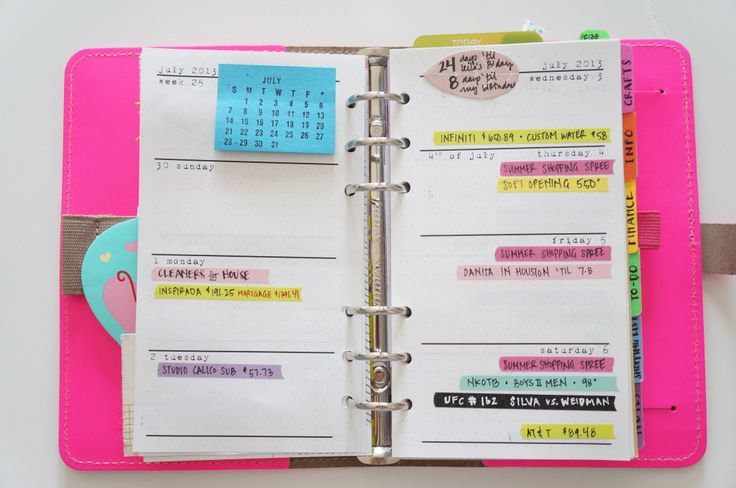 Printable Filofax Personal Pages