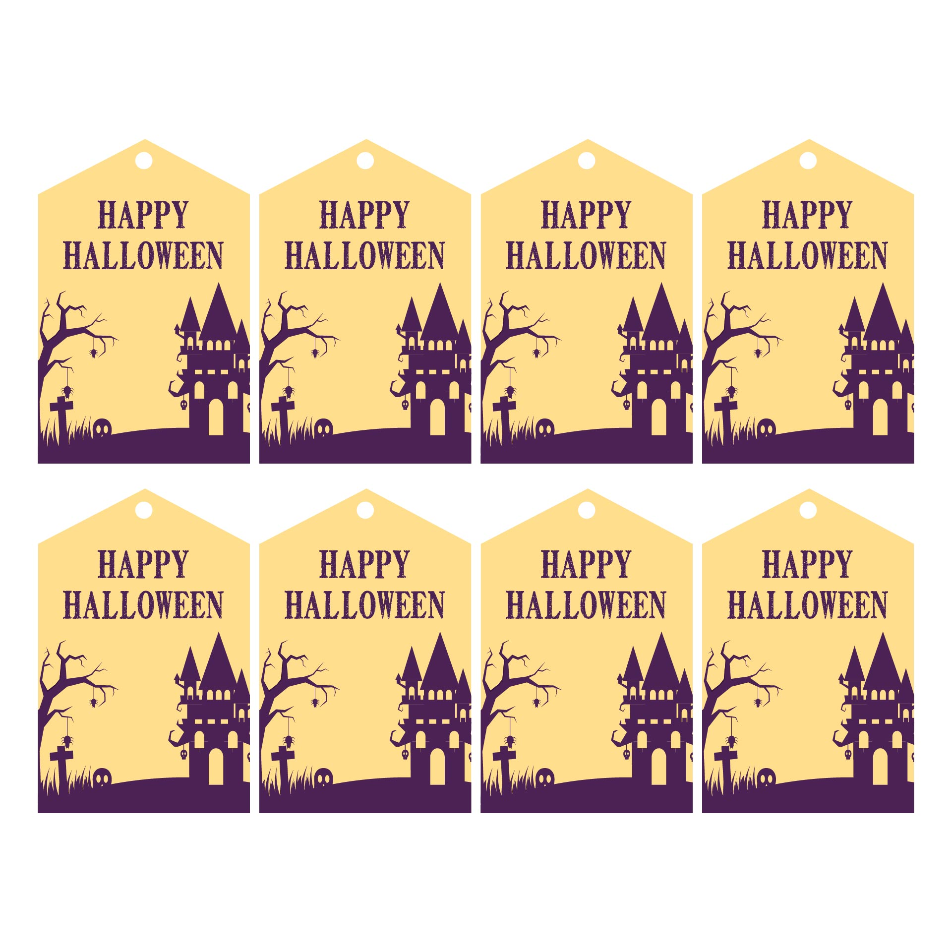 5 Images of Cute Halloween Gift Tags Printable