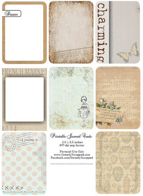 5 Images of Printable Journaling Tags