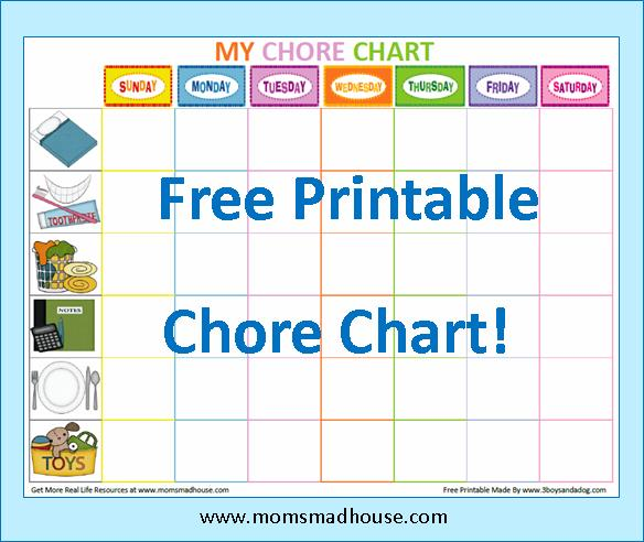 8 best images of printable chore schedule for moms free printable chore list chart for mom. Black Bedroom Furniture Sets. Home Design Ideas