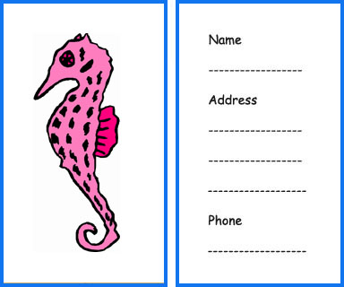 8 Images of Sea Animals Free Printable Tags
