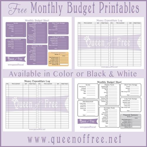 Home Budget Worksheet Template Free - household budget worksheet ...