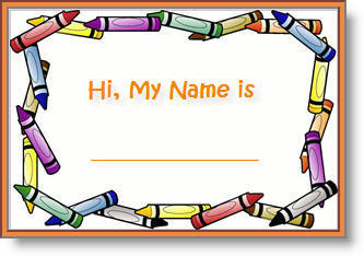 4 Images of Back To School Name Tags Printable Free