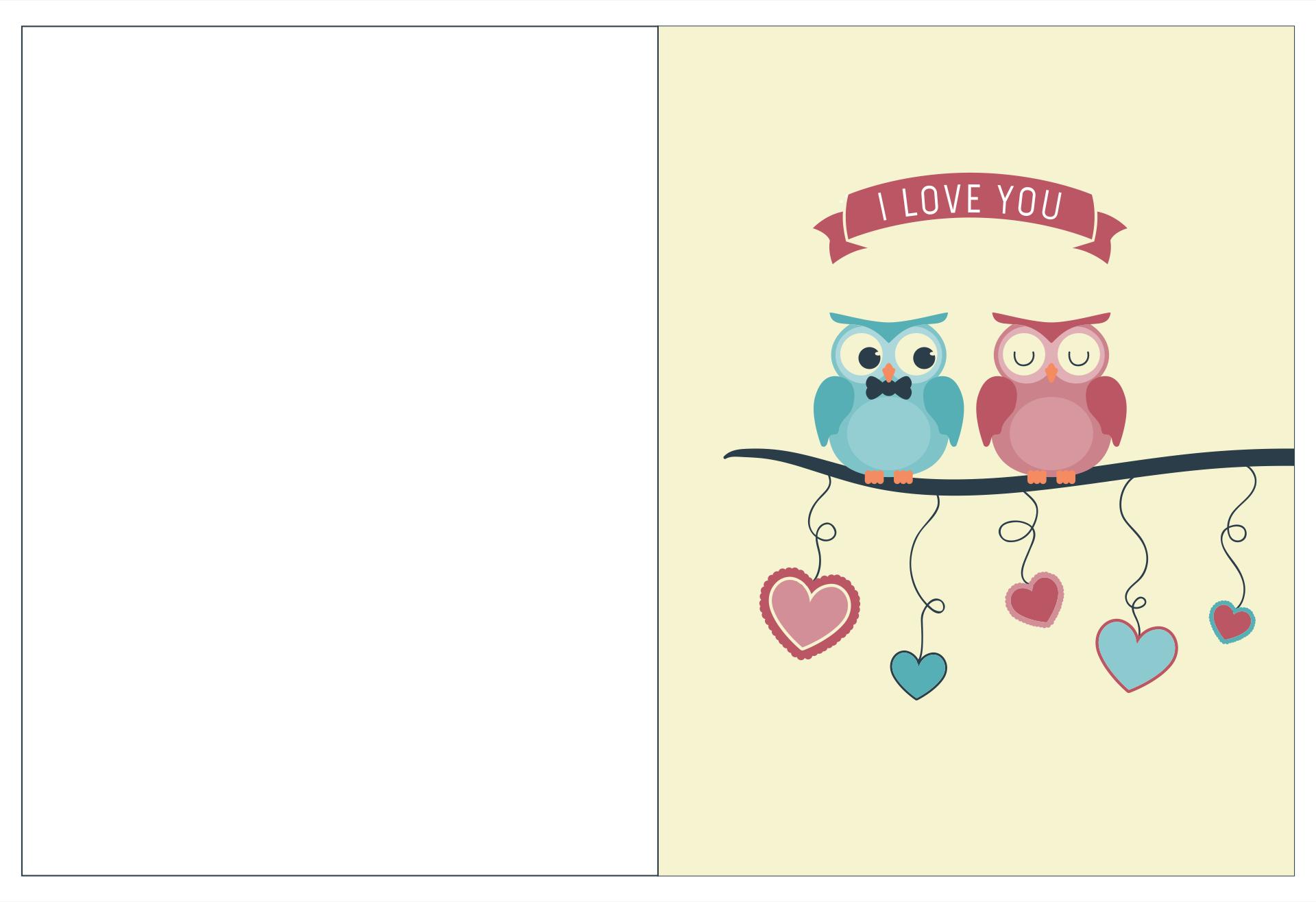 Printable Owl Valentine Cards