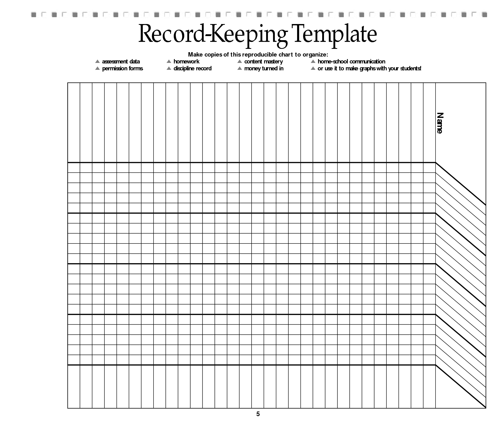 Witty image within free printable homeschool record keeping forms
