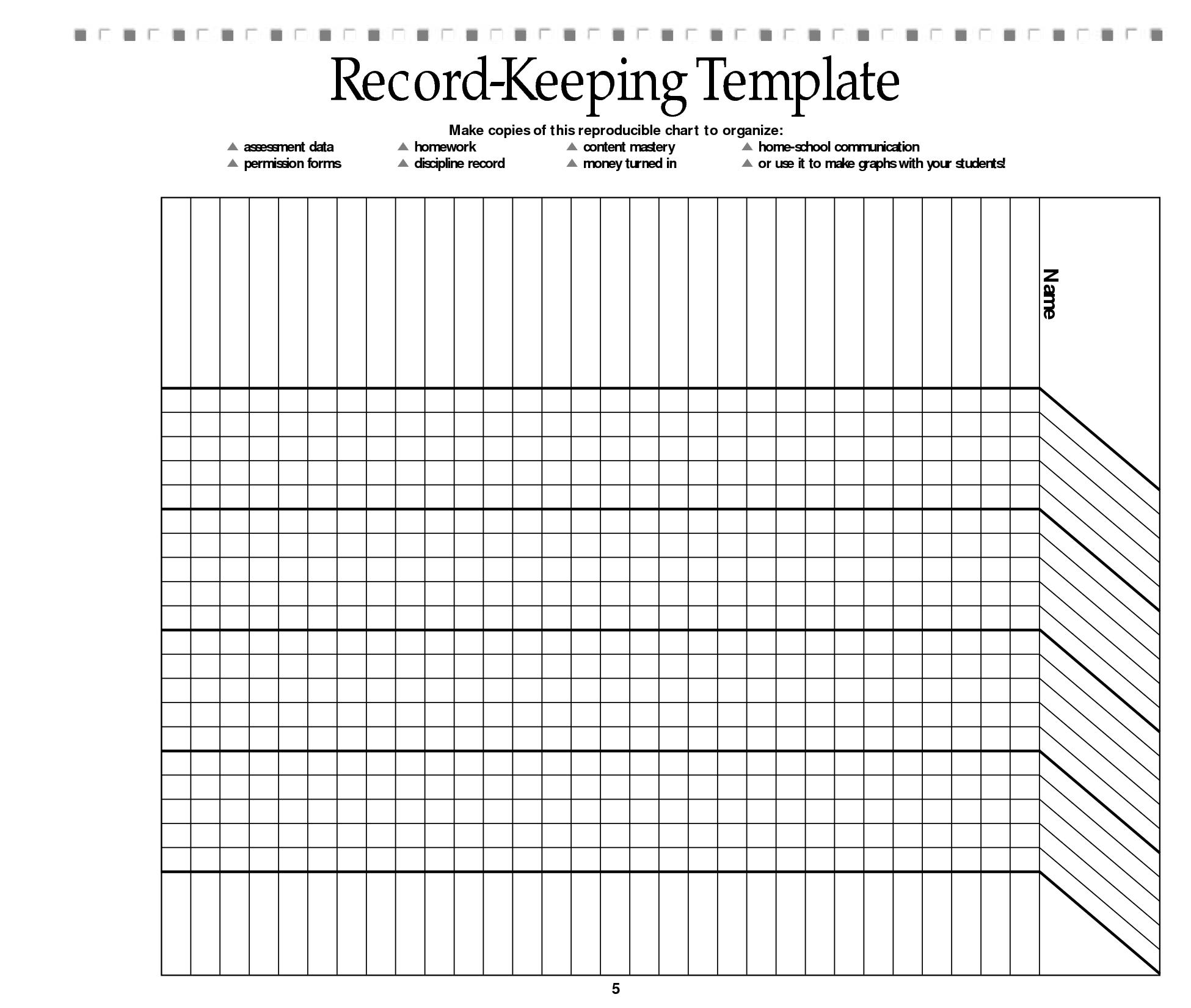 Gratifying image regarding free printable homeschool record keeping forms