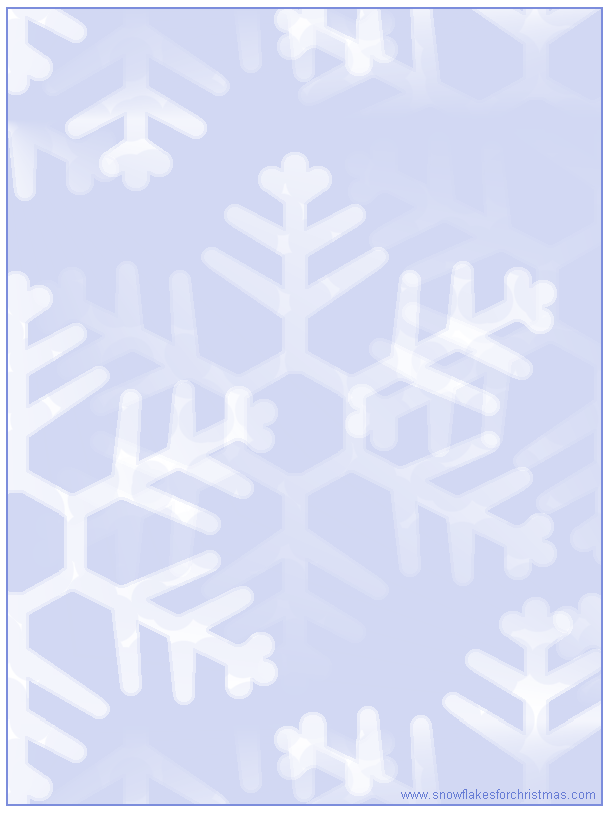 8 Images of Snowflake Printable Stationery