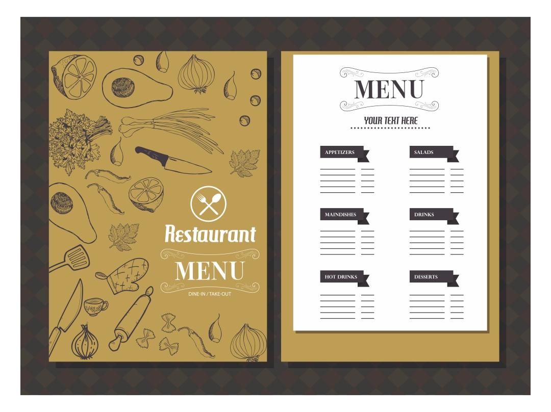 Printable Template Restaurant Menus
