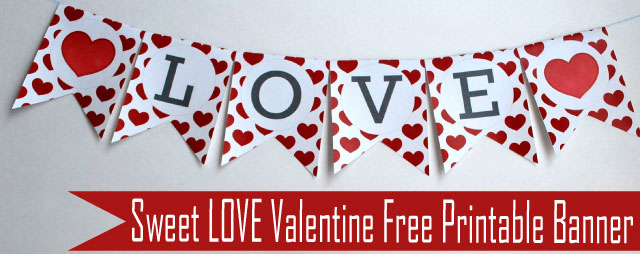 8 Best Images of Happy Valentine's Day Banner Printable ... Happy Valentines Day Banner Printable