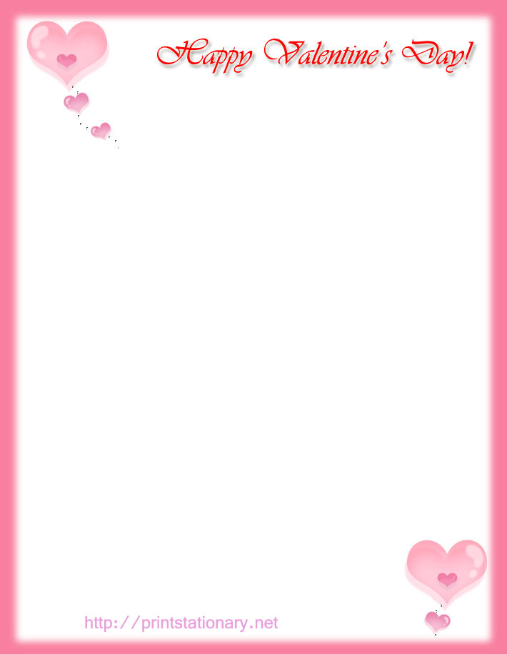 8 Images of Valentine's Day Free Printable Templates