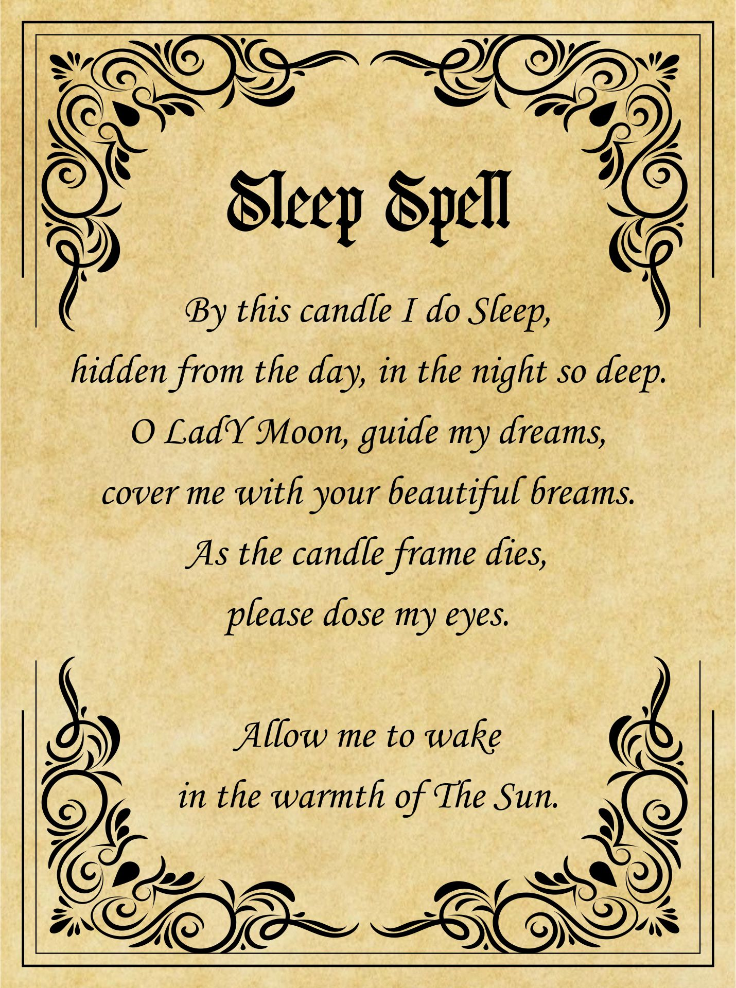 Printable Witches Spells