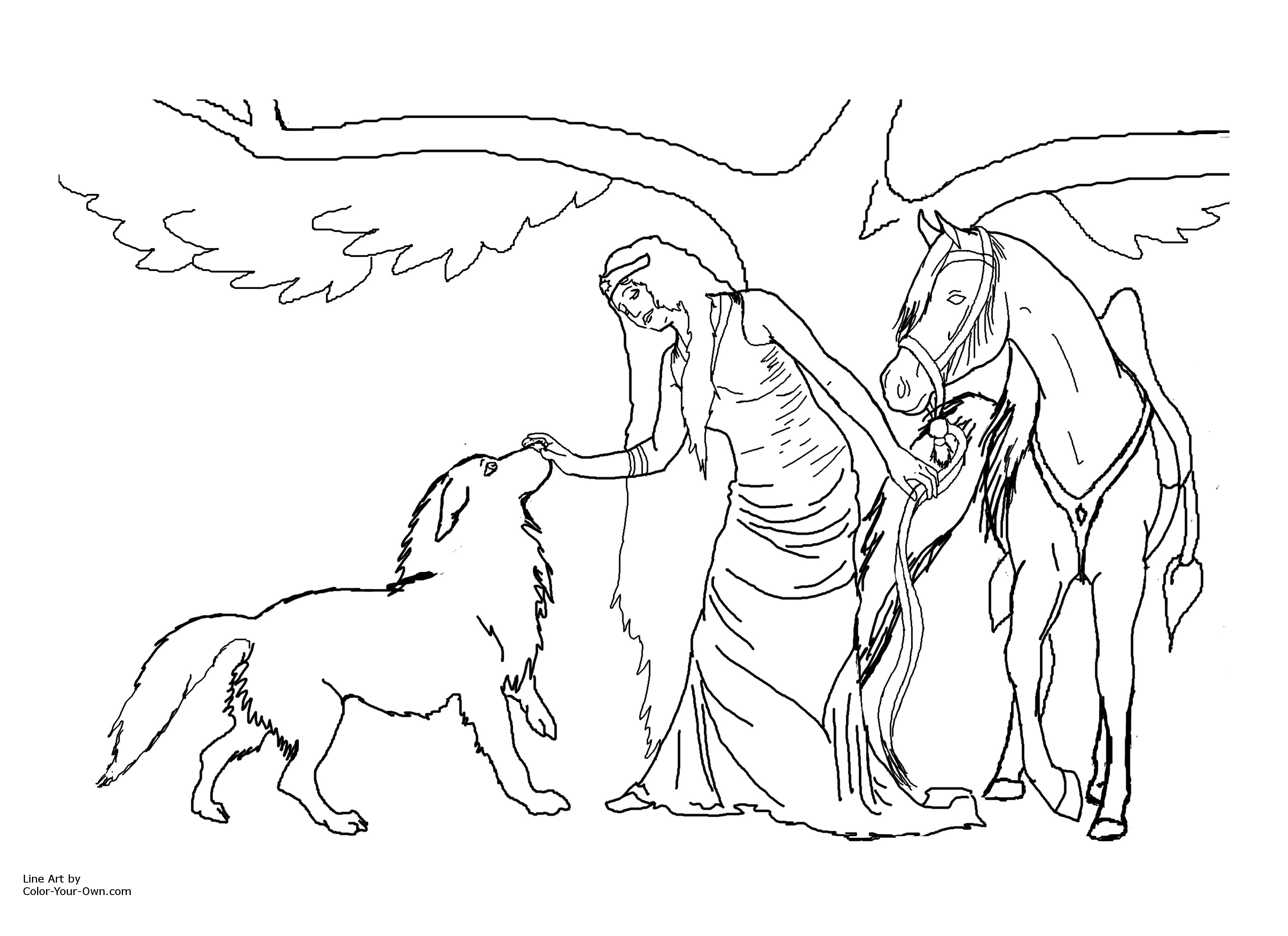 reaic wolf coloring pages free