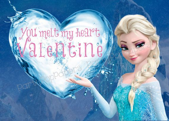 8 Images of Valentine's Printable Frozen Princess