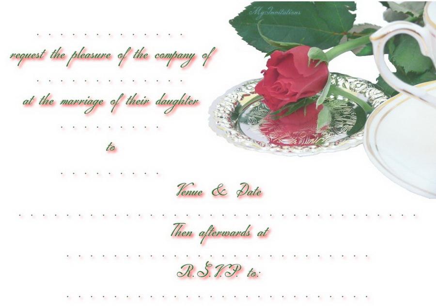 Hallmark Wedding Invitation Printable Free