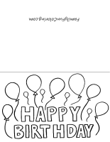 4 Images of Printable Coloring Birthday Cards For Boys