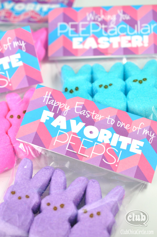 5 Images of Free Easter Printable Peeps Tag