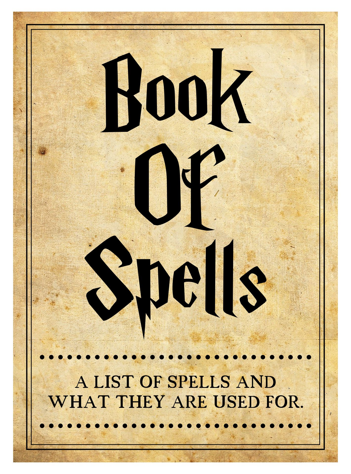 Book Cover Harry Potter Printable : Best images of printable halloween spells free