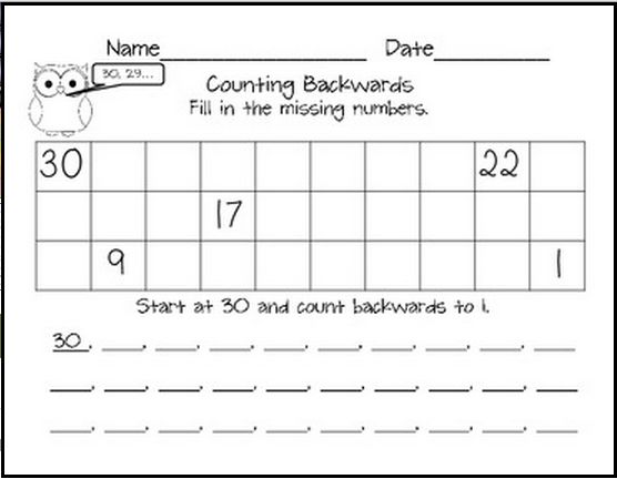 Number Names Worksheets counting to 20 worksheets free : Counting Backwards From 20 Worksheets - Pichaglobal