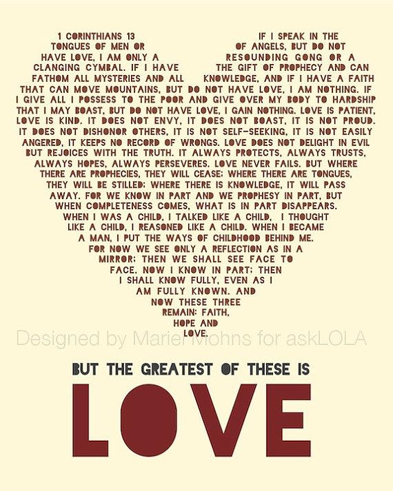 Love Scripture 1 Corinthians 13
