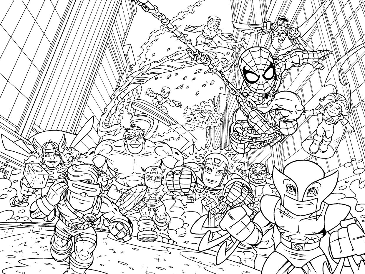 7 Images of Marvel Printable Coloring Pages