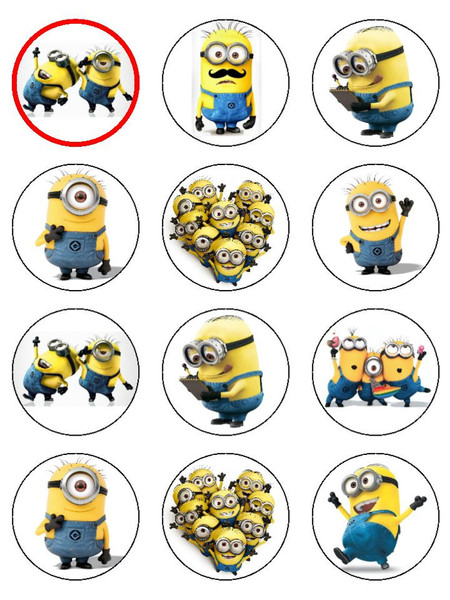 8 Images of Minion Cupcake Toppers Free Printable