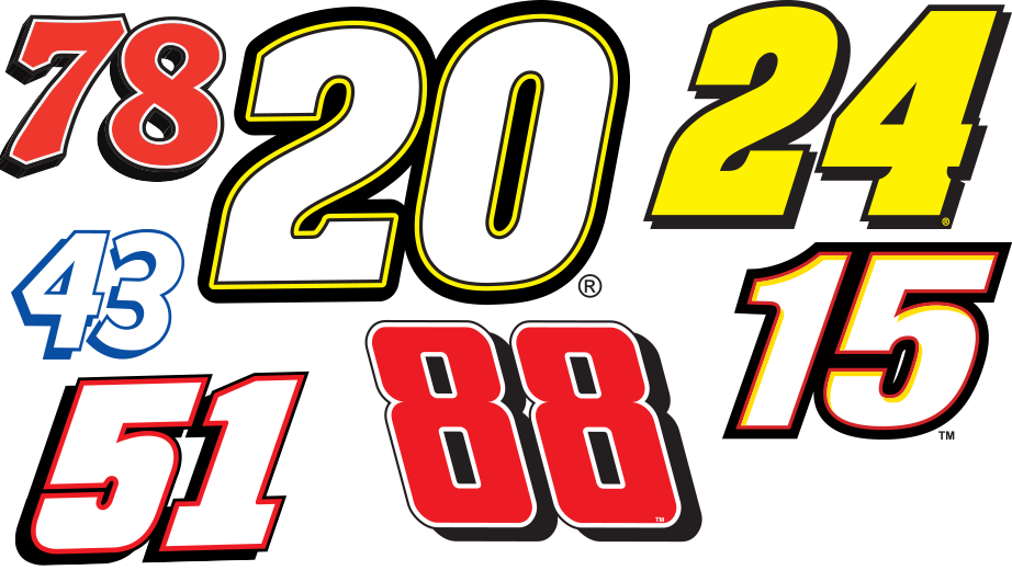 8 Images of Printable NASCAR Numbers