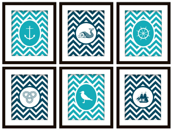 Chevron Bathroom Printable Art Nautical Bathroom Art Printable Free