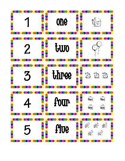 Cards 1- 30 - Printable Number Flash Card 1, Printable Number Cards 1 ...