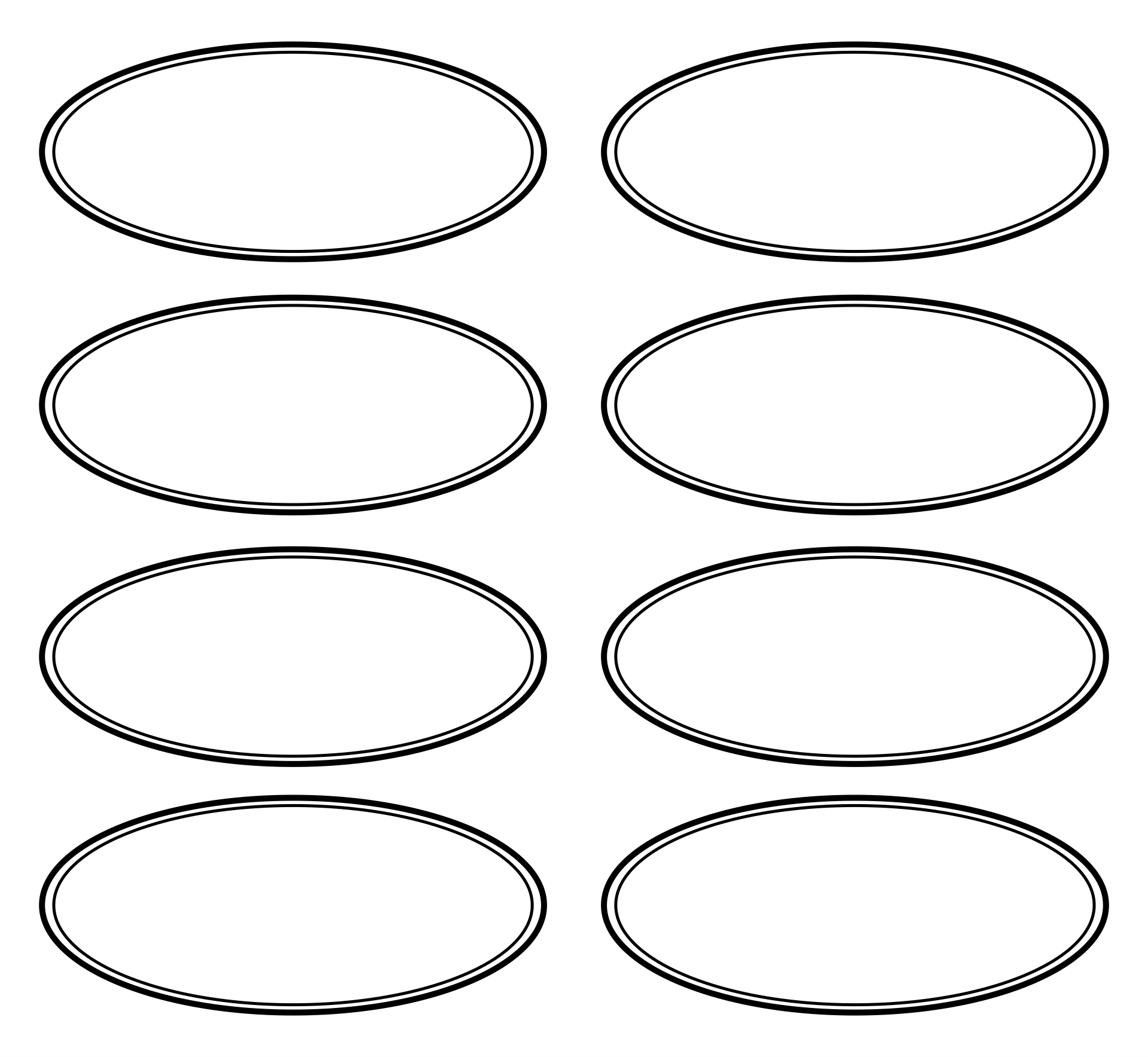 Oval Outline Template