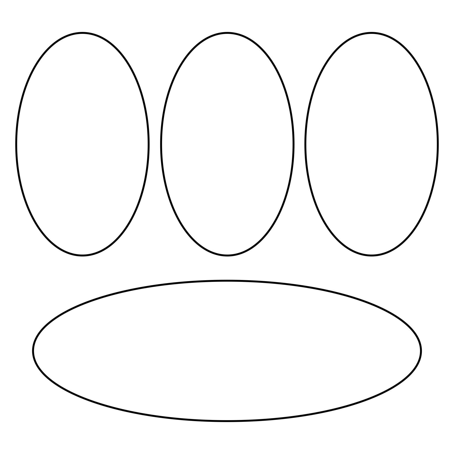 Oval Shape Template Printable