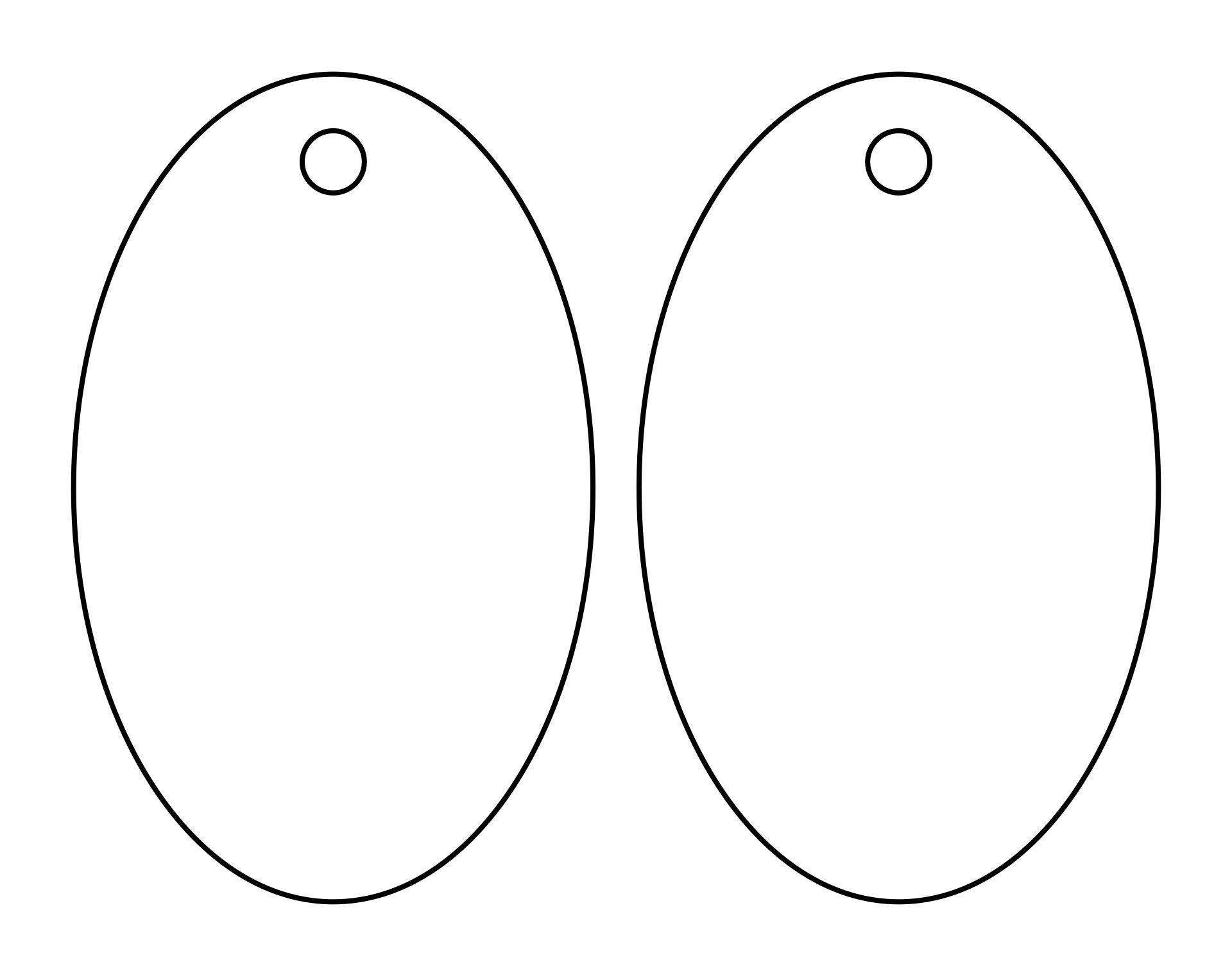 Oval Tag Templates Printable Free