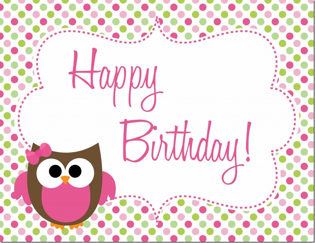 9 Images of Free Printable Owl Birthday