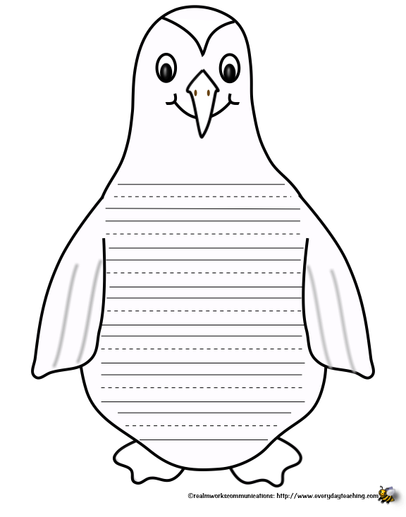 7 Images of Penguin Printable Paper