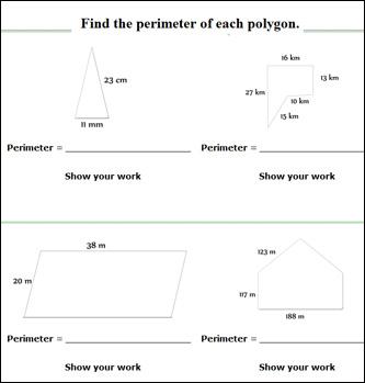 Math Worksheets Area And Perimeter & perimeter worksheets