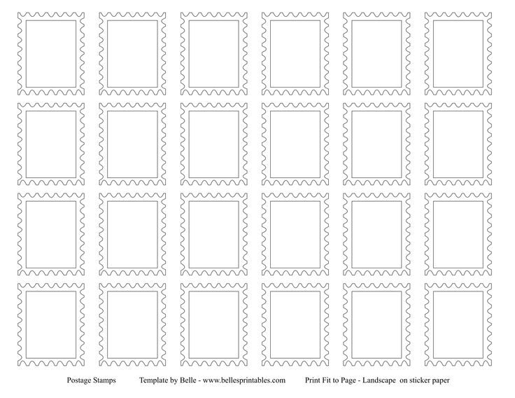 6 best images of preschool post office printables free for Post office design your own stamps