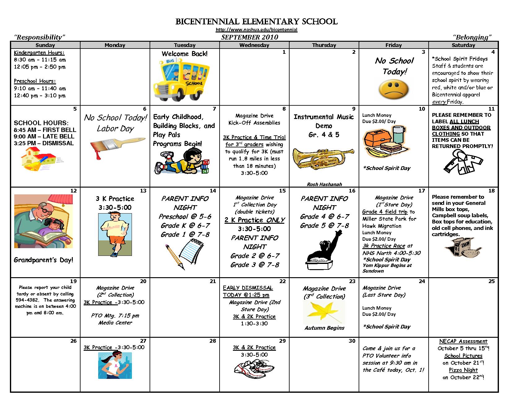 October Calendar Kindergarten : Preschool printable images gallery category page