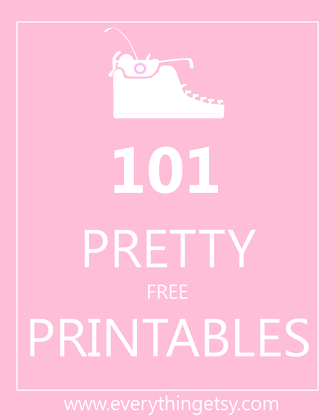 Pretty Free Printables