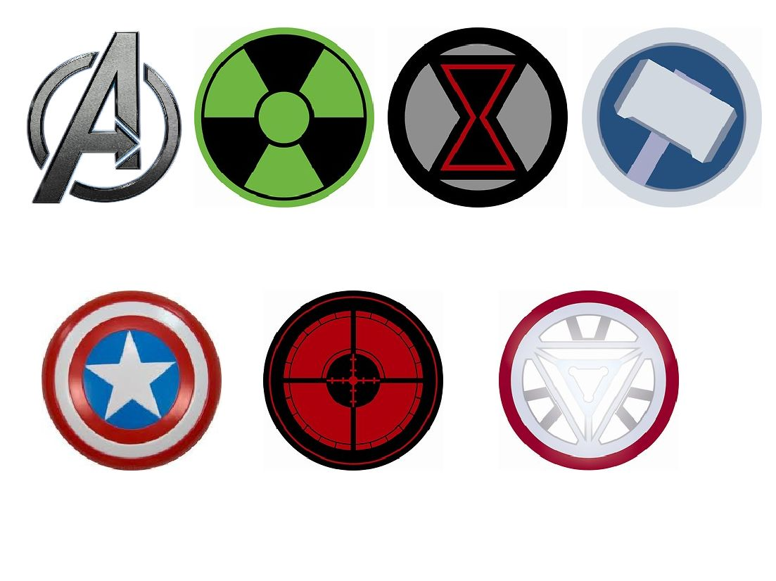 4 Images of Free Printable Avengers Cupcake Toppers