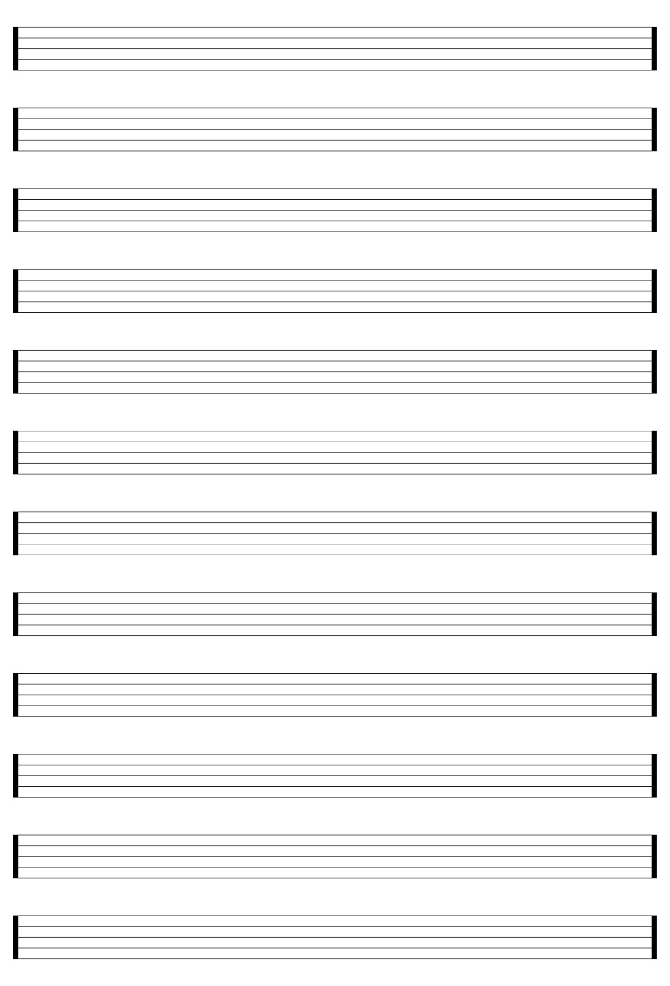 5 best images of free printable staff paper blank sheet for Music manuscript template