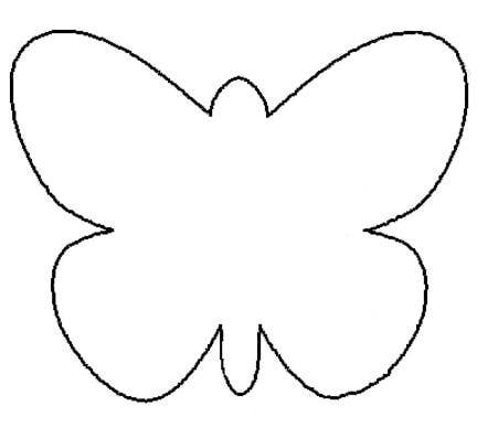 5 Images of Printable Traceable Butterfly