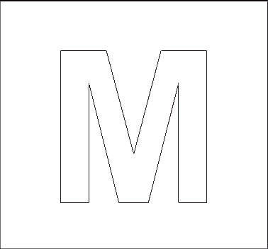 5 Images of Printable Capital Letter M