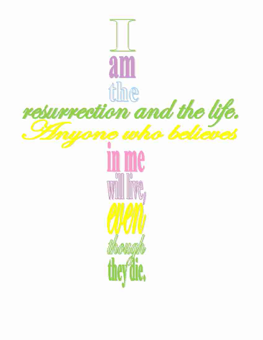 6 Images of Easter Cross Printable
