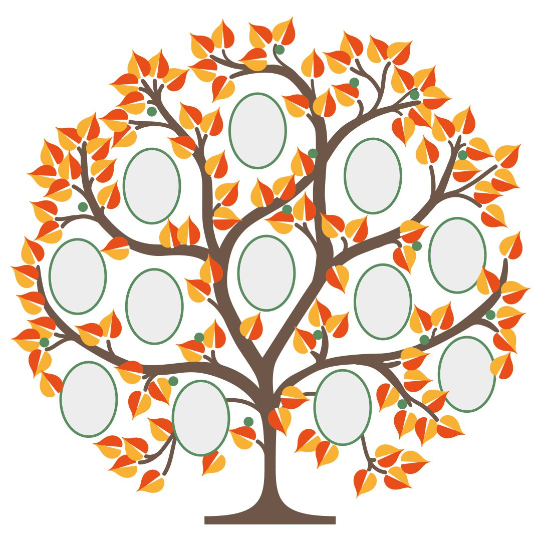 This is a picture of Printable Tree Template inside branch
