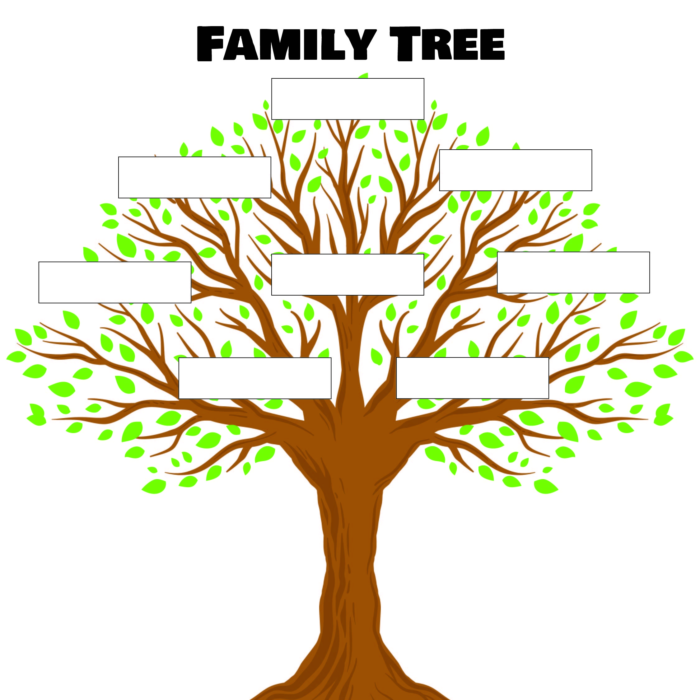 21 Best Free Printable Family Tree Template Kids - printablee.com Inside Fill In The Blank Family Tree Template