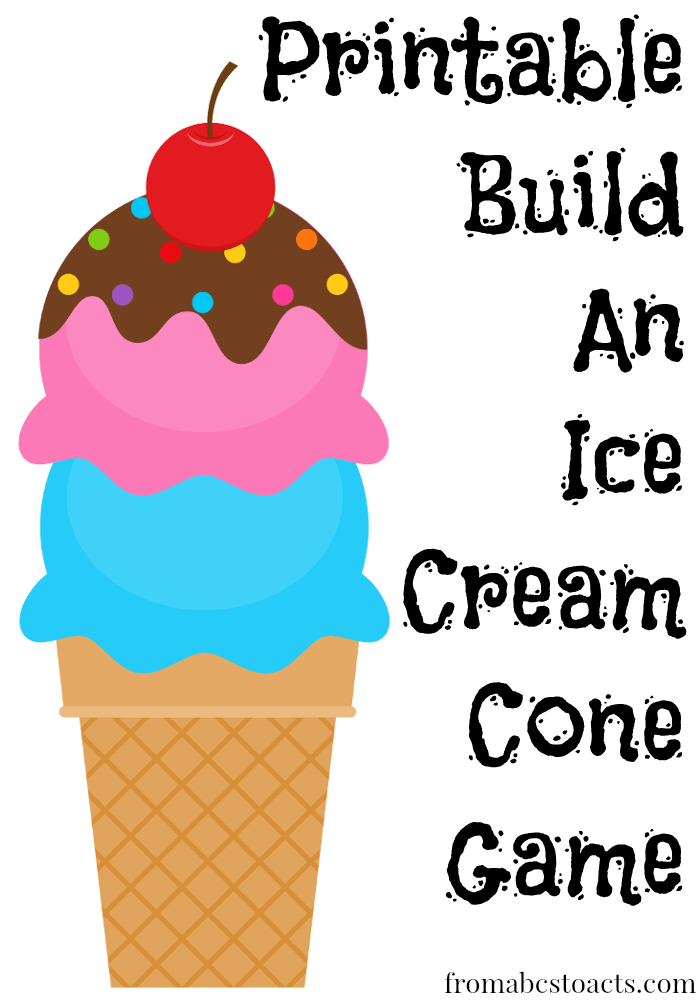 6 Images of Ice Cream Cone Printable