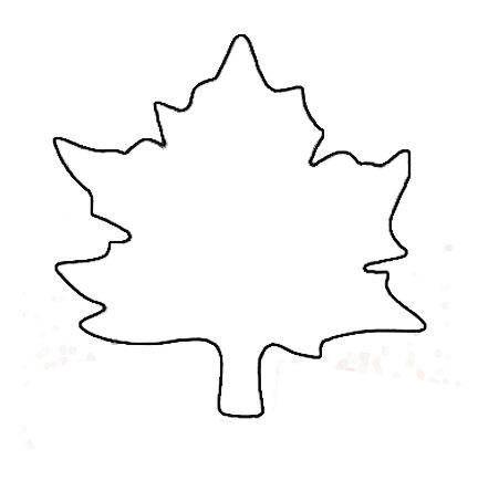 5 Images of Preschool Leaf Printable Pattern