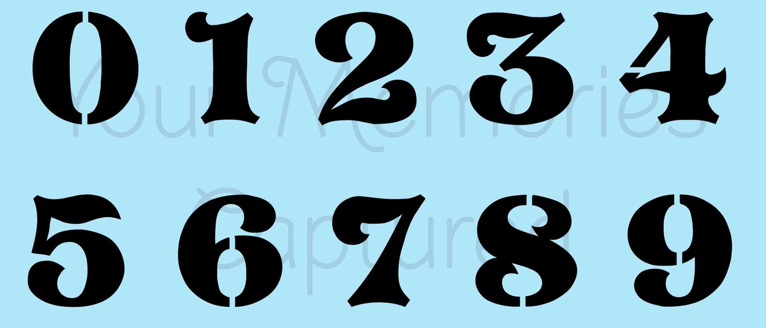 Related Keywords & Suggestions for old english number stencils Old English Numbers Printable