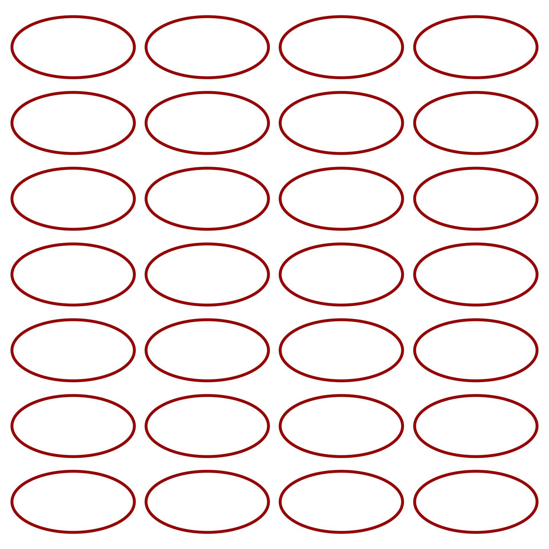 Printable Oval Shape Pattern